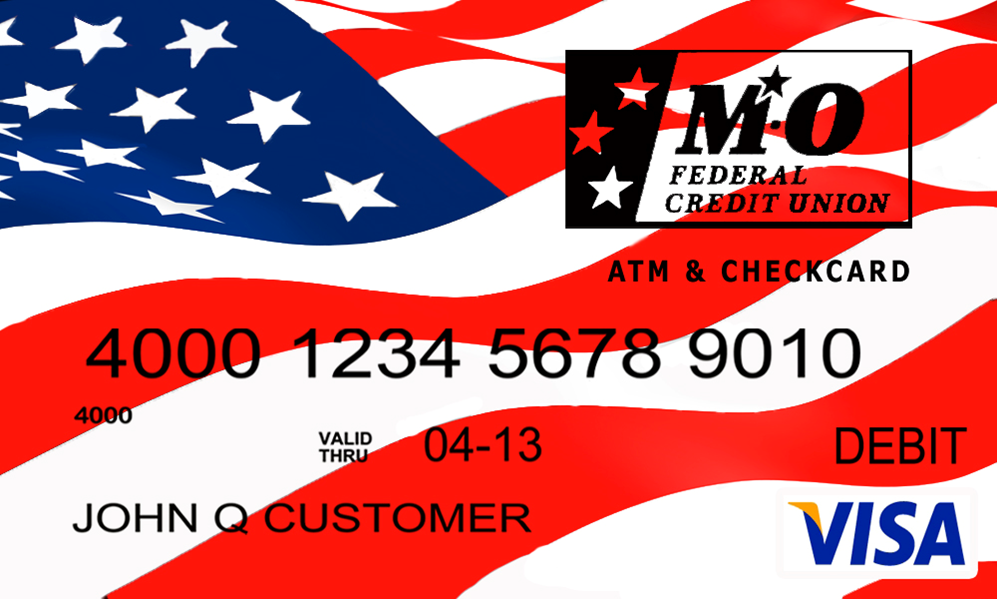 debit card image with American flag background