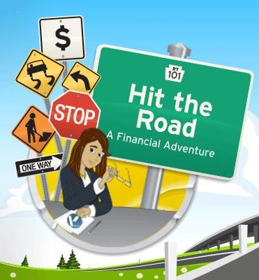 Hit the Road financial game logo